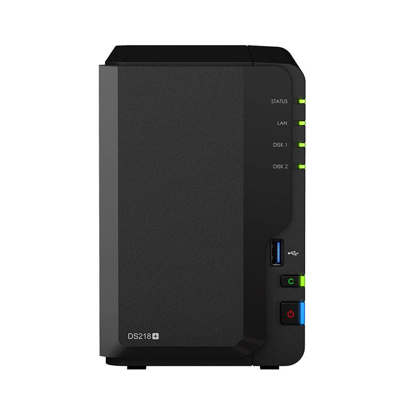 群晖(Synology)DS218+ 2盘位 NAS网络存储服务器 (无内置硬盘)图片