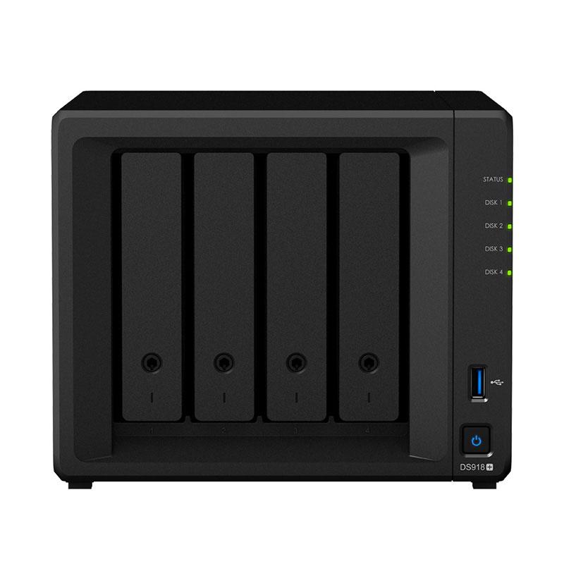 群晖(Synology)DS918+ 4盘位 NAS网络存储服务器 (无内置硬盘)图片